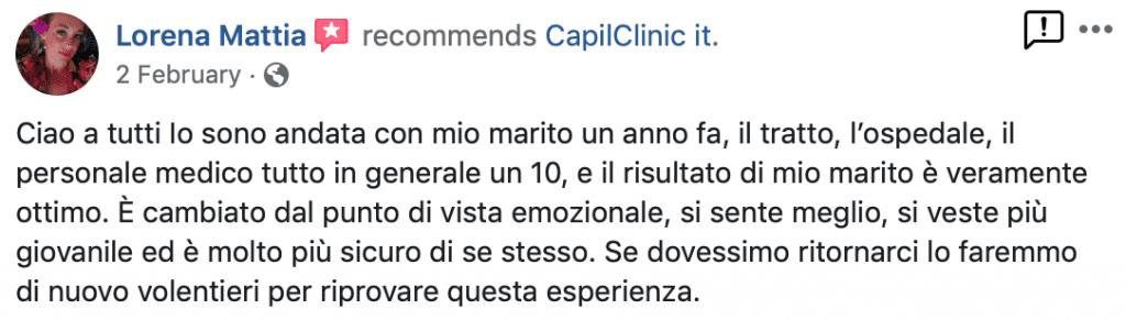 Recensioni dei pazienti Capilclinic